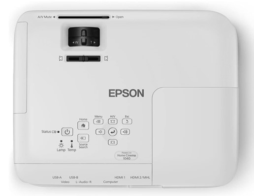 Epson Home Cinema 1040 offers various functions on the projector itself