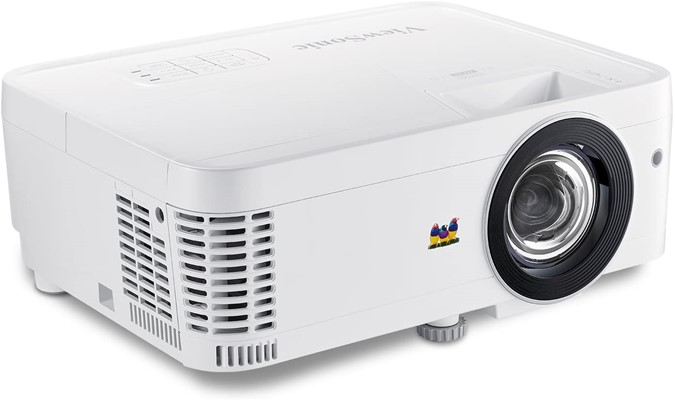 ViewSonic 1080p Short Throw Projector with 3000 Lumens 22,000-1 DLP Dual HDMI USB C and Low Input Lag, Stream Netflix with Dongle
