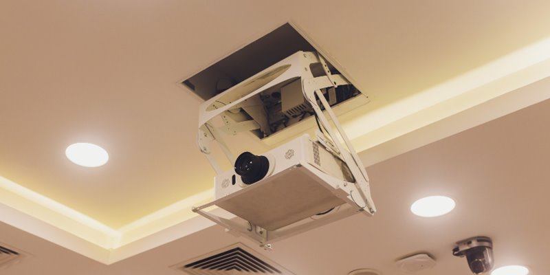 How to Run Power to a Ceiling Mounted Projector - featured image