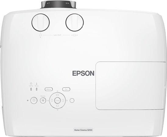 Epson Home Cinema 3200 - top area