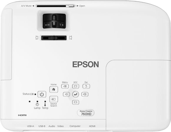 Epson Home Cinema 760HD Review - living room projector
