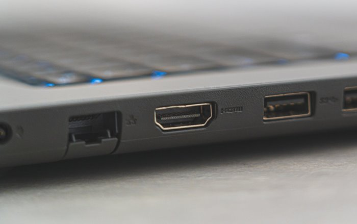 Female-part HDMI port is located on your laptop and projector